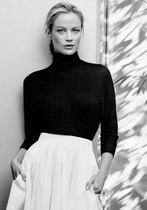 The sleek black turtleneck is a wardrobe essential for my own style.