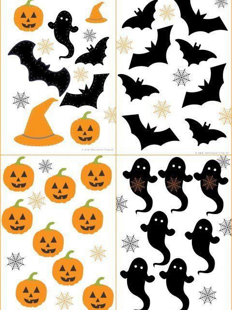 Halloween Girlande Zum Prickeln Family Und Living Halloween Girlande Basteln Halloween Halloween Deko Basteln