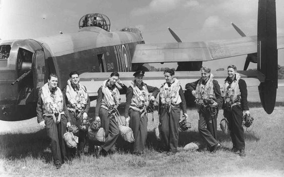 "Of 125,000 aircrew who served in the strategic bomber force between 1939 and 1945, 55,000 were killed and another 18,000 wounded or taken prisoner, a casualty rate of 60 per cent. Statistically, there was no more dangerous occupation during the war, except for that of U-boat crewman. The chance of being killed on a typical operation was one in 20, while the standard ""tour"" undertaken by a crew consisted of 30 ops. Above, Avro Lancaster Mk. I of 460 Squadron, on ground, with crew, Binbrook…"