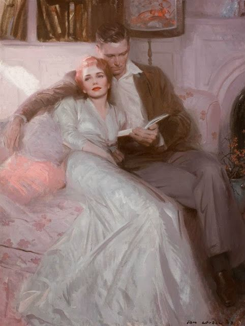 Tom Lovell. Back comes the bride, 1944: