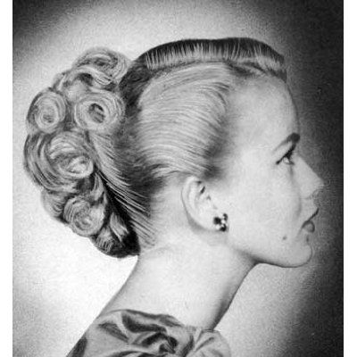 Vintage wedding hair. Love this updo