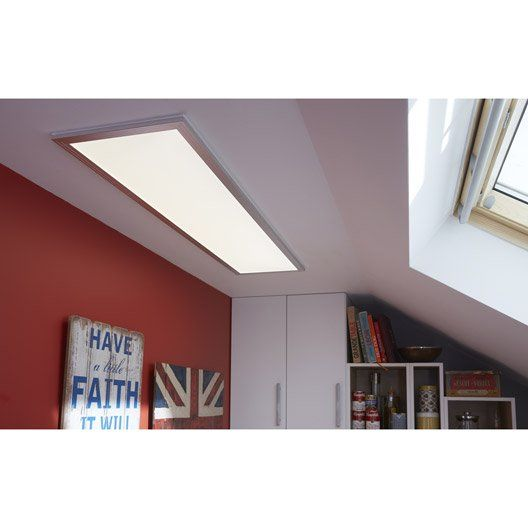 Super Panneau LED Gdansk INSPIRE, LED 1 x 36 W, blanc | Home Inspiration  IU66