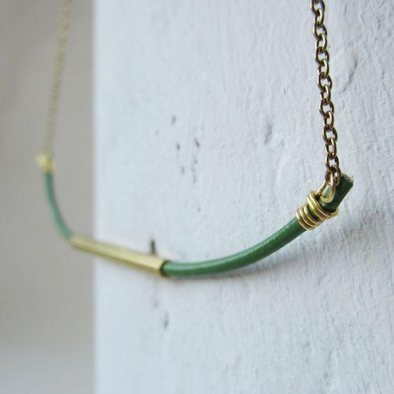 emerald hexi necklace