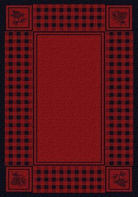 Thank you. You will receive a $1 off coupon during checkout. Pinecone Plaid Red Area Rug