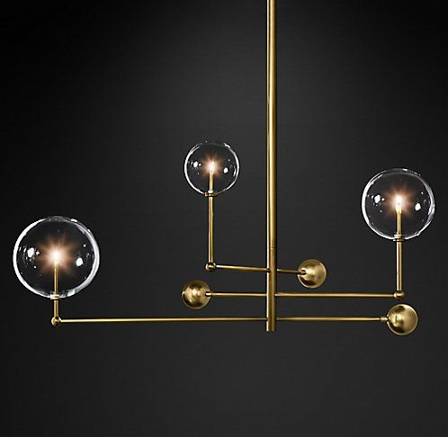 Glass Globe Mobile Chandelier | RH Modern | Mobile