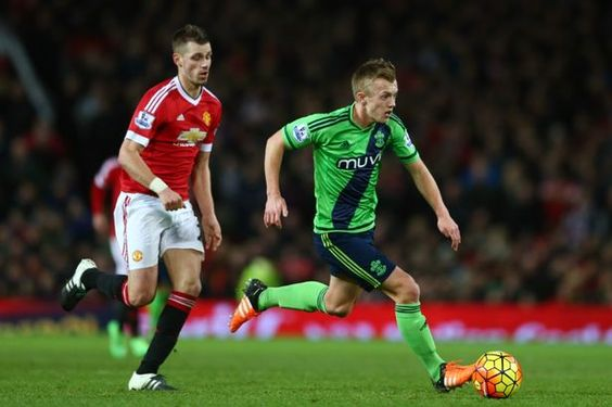James Ward-Prowse on the attack against Manchester United