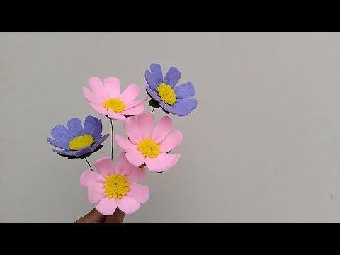 Diy Felt Cosmos Flowers Cara Membuat Bunga Flanel Cosmos Youtube Felt Flowers Diy Felt Flower Tutorial Paper Flower Kit