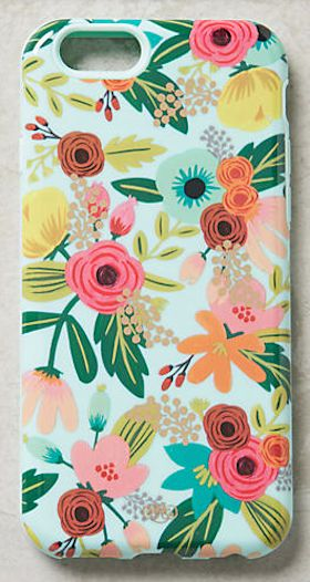 pretty floral print iPhone case