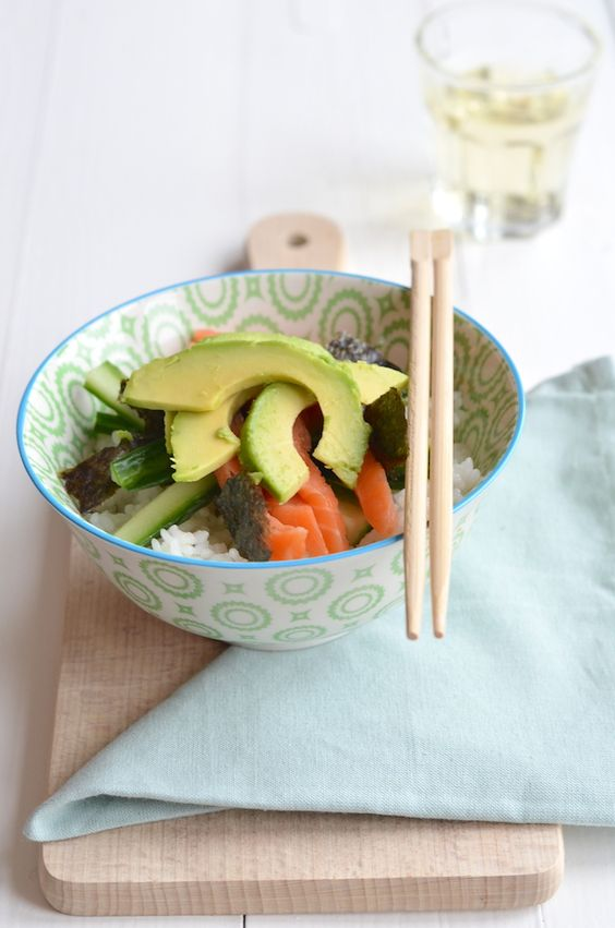 sushi bowl | UIT PAULINE'S KEUKEN | Pinterest | Sushi Bowl, Sushi and ...
