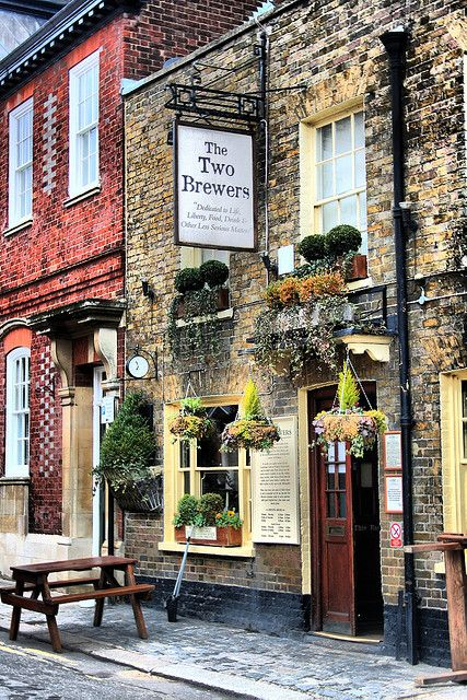ok, so it's a pub, and not a cafe or bakery, but it looks cool - The Two Brewers Pub - Windsor, England~
