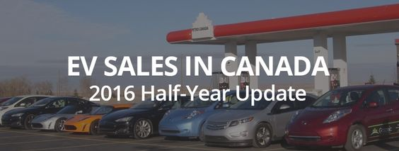 Electric Vehicle Sales in Canada: 2016 Half Year Update #electriccars #EV #EVs #green #cars #Deals #cleanair #ElectricCar