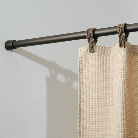 Amazon.com - InterDesign Cameo Shower Curtain Tension Rod, Bronze ...