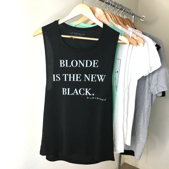 Blonde Is The New Black Tank - Women's