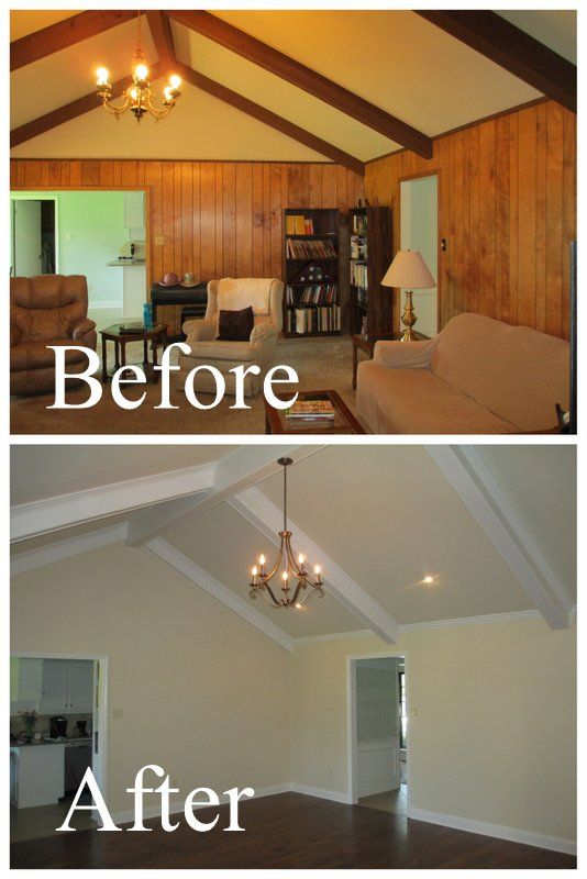 Wood Paneled Den: Red River Remodelers Removes Paneling