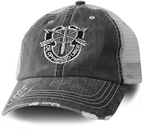 US Army Special Forces Black Mesh Ball Cap