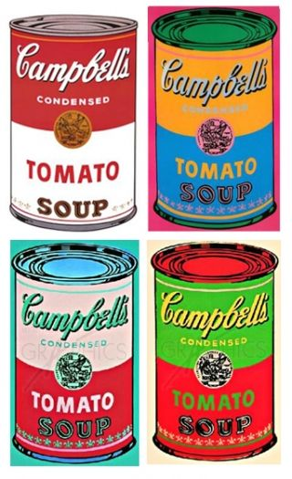 Campbell's Soup, Andy Warhol Pop Art, 1962