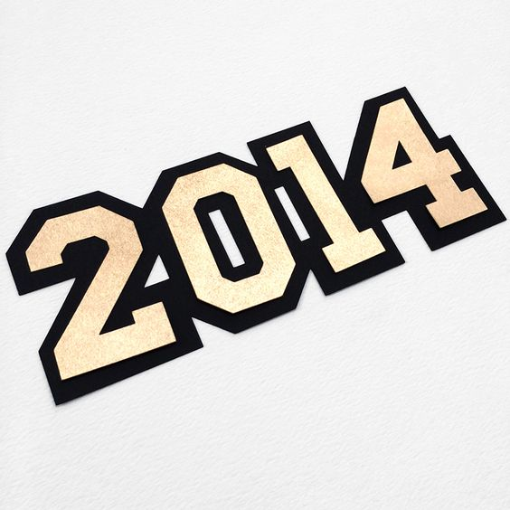 Custom 2014 cut out with your Cricut