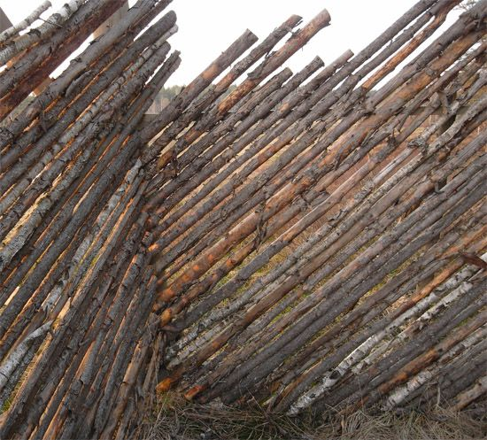 FENCE MADE OF STICKS