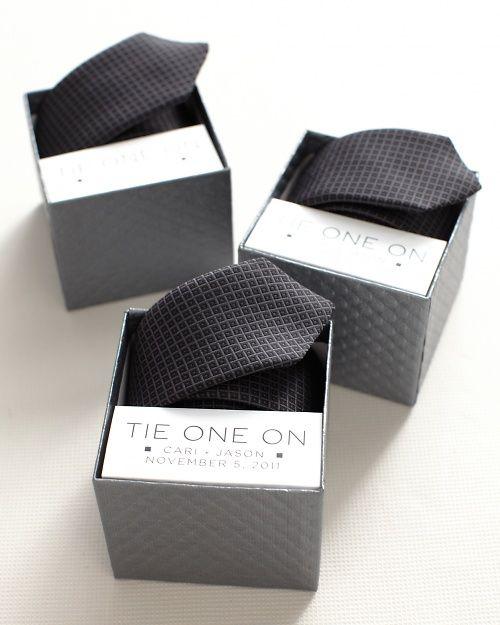 """Tie One On"" DIY gift for groomsmen from Martha Stewart Weddings"