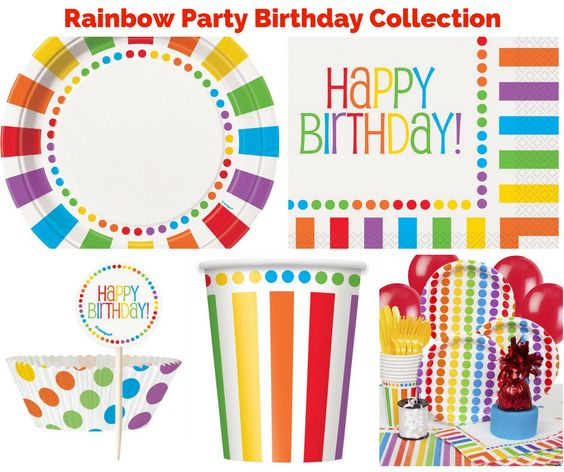 Rainbow Party Birthday Collection