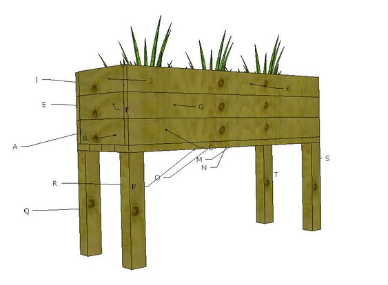 Ana White | Build a Elevated Planter Box | Free and Easy DIY Project and Furniture Plans