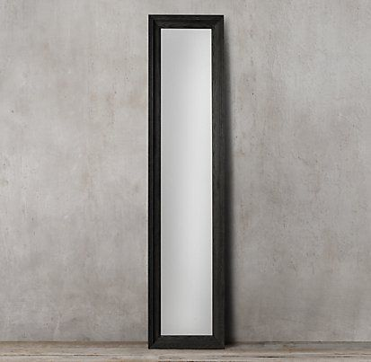Marseilles Leaner Mirror - Black | Restoration Hardware