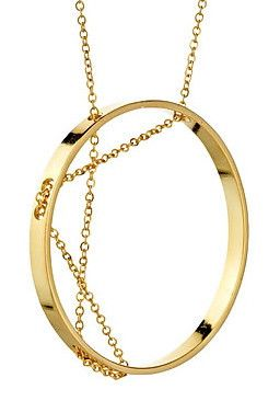 Aperture Necklace in Yellow Gold