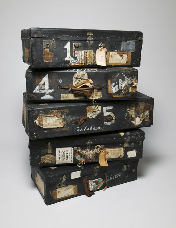 The five suitcases in which Alexander Calder (American sculptor, 1898-1976) transported his Circus - 1926-1931 -  Whitney Museum of American Art, New York