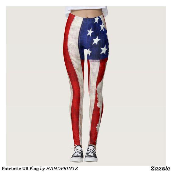 Patriotic US Flag Leggings