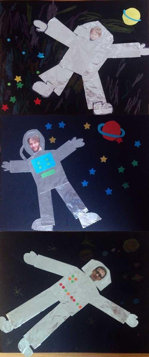 astronaut art project - photo #17