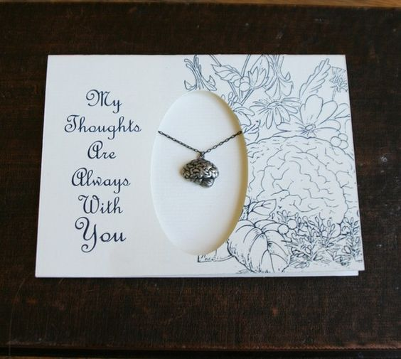 My thoughts are always with you brain necklace