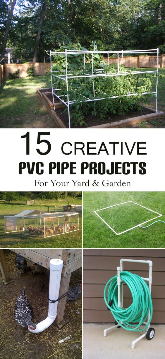 15 creative pvc pipe projects for your yard and garden for Diy pvc projects