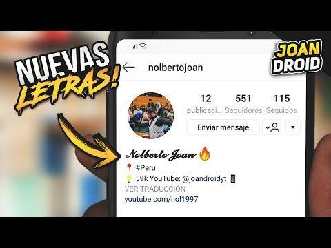 Cómo Editar O Cambiar La Letra De Instagram Youtube Letra De Cambio Instagram Letras