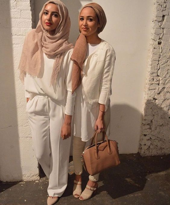 Hijab + Whites + NYFW (Summer Albarcha and Maria Alia):