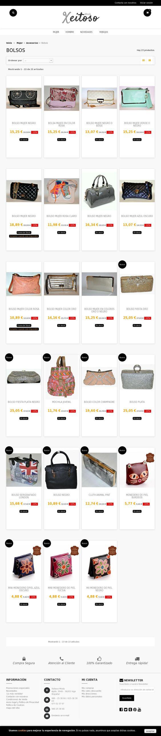 Bolsos, mochilas, cluth, compras en España