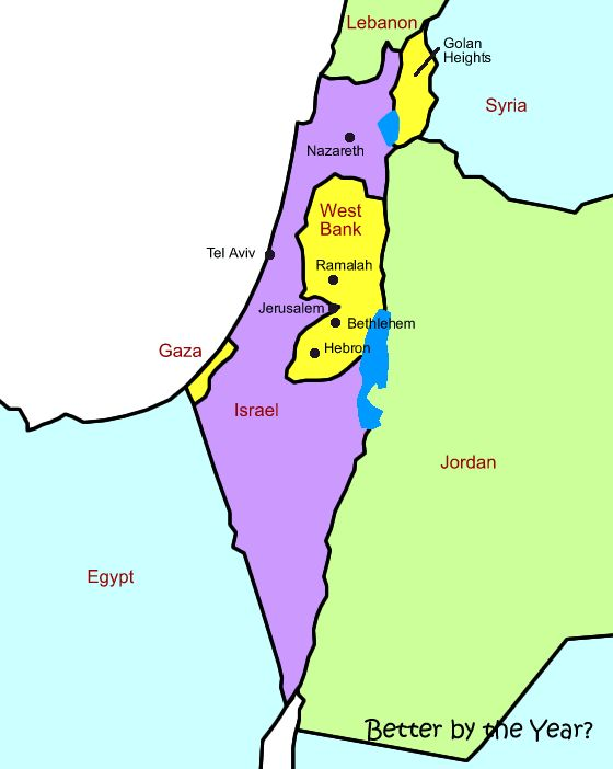 This Map Shows The Complexity Of Israels Borders With Egypt - Map of egypt israel jordan