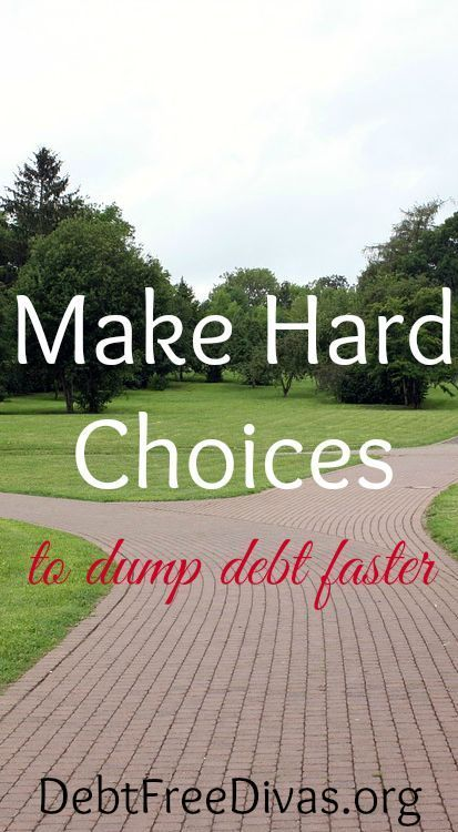 We talk a lot about cutting back. It's easy to talk about cutting frivolous spending or things of no real consequence. Making BIG moves to dump large amounts of debt - in this lifetime - requires a close look at hard choices. Have you considered the following spending decisions? debt free debt freedom #debt #debtfree #savemoney get out of debt, getting out of debt