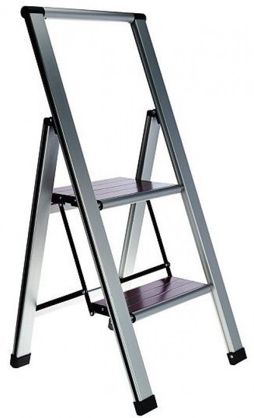 Remarkable Slim Step Ladder Folding 2 Step Heavy Duty 250Lb Lightweight Inzonedesignstudio Interior Chair Design Inzonedesignstudiocom