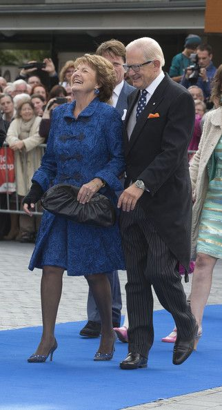 Dutch Princess Margriet and Pieter van Vollenhoven attend the wedding of Prince Jaime de Bourbon Parme and Viktoria Cservenyak at The Church Of Our Lady At Ascension in Apeldoorn, Netherlands