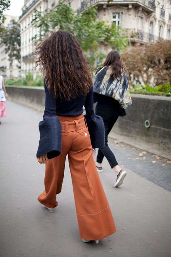 I love her billowy sleeves || The best of street style during Milan Fashion Week 2016.