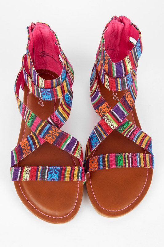 LOVE: Colorful Sandals, Summer Sandals, Summer Shoes, Aztec Prints, Aztec Sandals, Colorful Shoes, Cute Sandals, Shoes Shoes