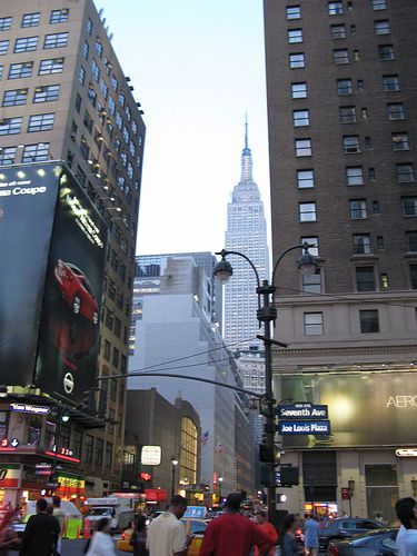View Of Empire State Building From A Few Blocks Away -- New York Pictures