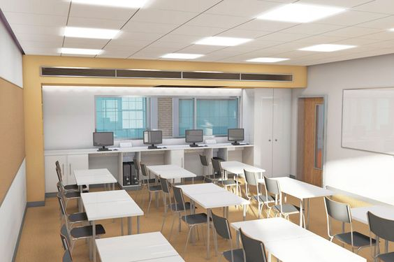 Modern College Classroom ~ Computers interiors and google on pinterest
