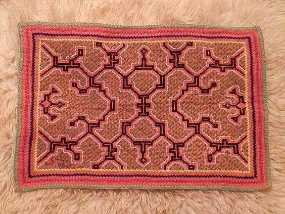 Hand Embroidered Shipibo Ayahuasca Vision by EveryThingIsSacred