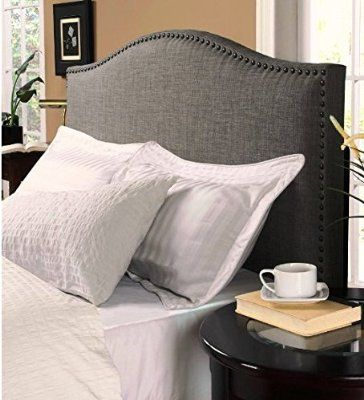 KING SIZE Modern Upholstered Padded Gray Linen Fabric Headboards. King Size Headboards Make Your Bedroom Complete. This King Headboard is Stylish Yet Simple. A Headboard Is Ideal For Sitting Up Reading In Bed. Head boards/Headboards Are Great.