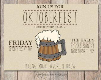 oktoberfest invitations on Etsy, a global handmade and vintage marketplace.