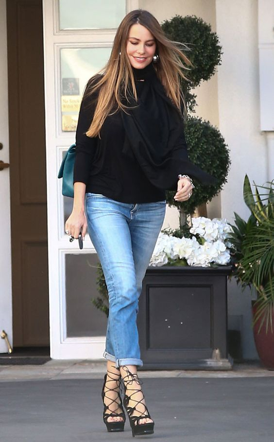 The latin actress is low key but still trendy during a day out in Beverly Hills.