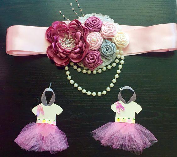 Baby Shower Distintivos ~ Cinturón como distintivo baby shower niña distintivos