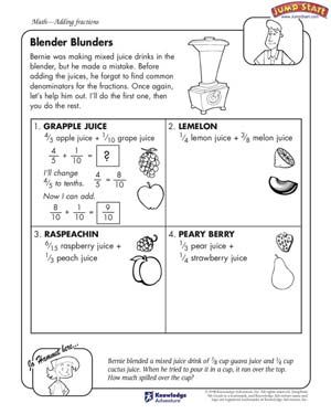 Blender Blunders&#39 - Free Math Worksheet for Kids | *?™?* Smart Kids ...