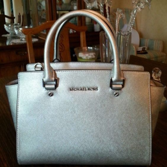 For Sale: MK Susannah Tote123 silver for $188